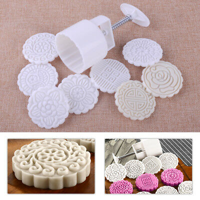 75g Round Baking Mooncake Mold DIY Stamps Biscuit Home Cake Mould Craft Tools