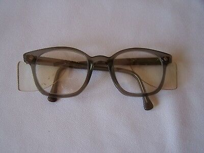 Vintage American Optical Safety Glasses Flexi-Fit 6 M Gray w/Side Guards