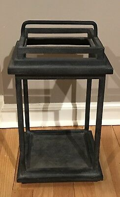 Pottery Barn LARGE BENNETT LANTERN Heavy Duty Cast Aluminum Outdoor Safe Antique