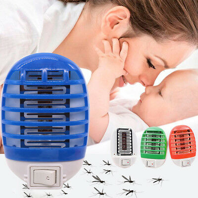 Electric Mosquito Fly Bug Insect Trap Zapper Killer Light LED Lamp USB 110/220V