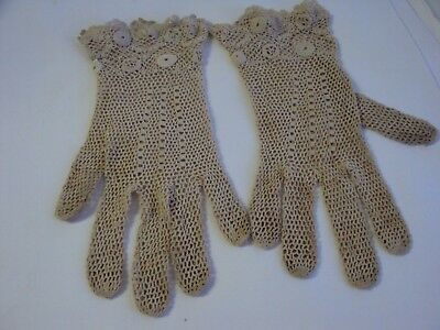Vintage Crochet Ladies Gloves Collectable Old