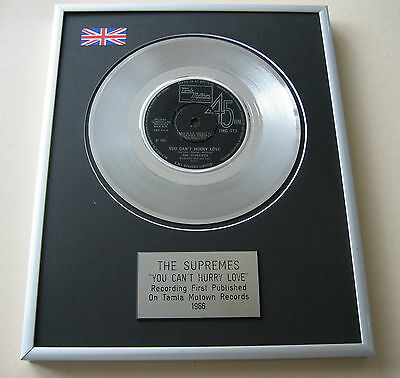 THE SUPREMES You Can't Hurry Love PLATINUM Single DISC PRESENTATION