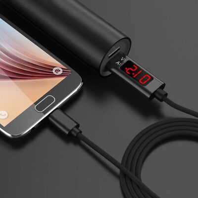 1.2M Voltage Current LED Display Type C/Micro USB Fast Data Sync Charger Cable