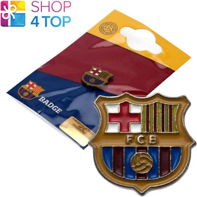 Fc Barcelona Pin Badge Crest Official Football Soccer Club Team Fc Button Enamel