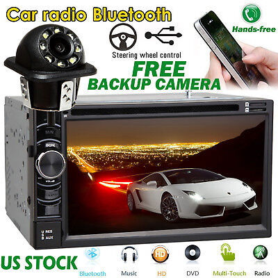2-Din 6.2inch Car MP3 Player Bluetooth Stereo Radio + Rear View Camera Hot Sale!