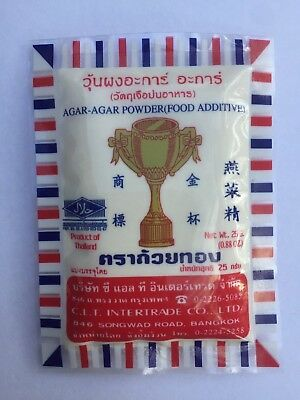 "Gold Cup Agar Agar Powder Food Additive 25g Suitable for Vegan ""AUSSIE STOCK"""
