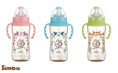 Simba Dorothy Wonderland Ppsu Wide Neck Feeding Bottle With Auto Straw & Handle