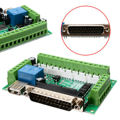 1X MACH3 CNC 5 Axis Interface Breakout Board for Stepper Motor Driver Controller