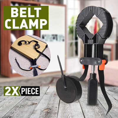 2x 4M Rapid Corner Clamp Band Strap Miter Clamps Vice Picture Frame AU Stock