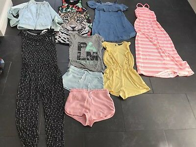 Girls' summer clothes 9 piece bundle (mostly 9-10 years): H&M, New Look & More