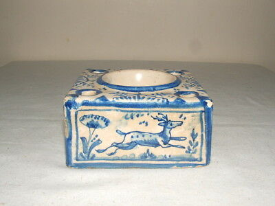 Delft Vintage Hand Painted Ink-Well & Pen Holder  Truly Stunning