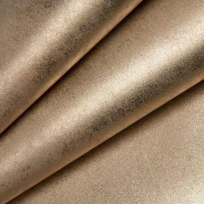 Crushed Velvet Wallpaper Foil Texture Gold Plain Metallic Heavy Vinyl Muriva