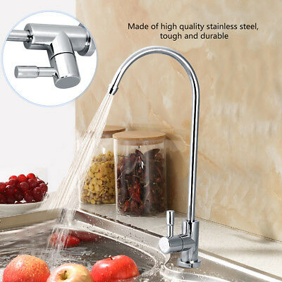 1/4'' Chrome Drinking RO Water Filter Faucet Finish Reverse Osmosis Sink Kitchen