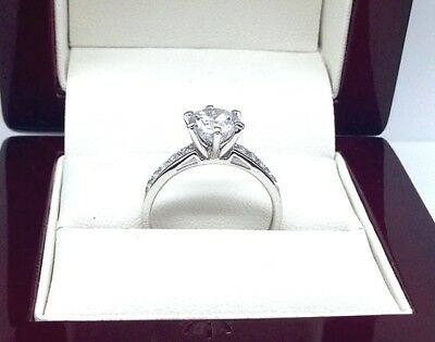 1.75Ct Diamond Engagement ring Solid 10K W/Gold Size R1/2