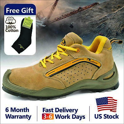 Safetoe Safety Shoes Mens Work Boots Steel Toe Breathable US Size 5 - 14 L-7296