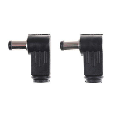 2Pc 2.5x5.5mm Right Angle 90° Male Plug Jack DC Tip Socket Connector AdapterM&O