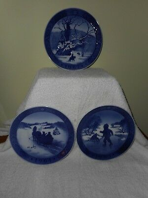 Royal Copenhagen Christmas Plates 1964 1965 And 1967