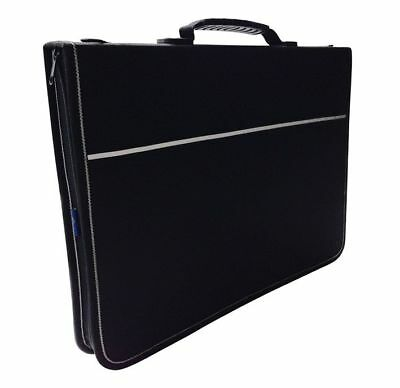 Mapac Quartz Black Portfolio Cases with Handle & Strap - A3, A2 or A1 Sizes