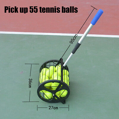 Pick Up Tennis Balls Basket Hopper Court Stainless Steel Holds 55 BALLS