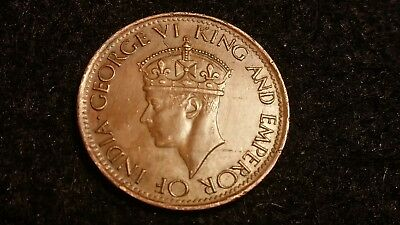 1943 George Vi King And Emperor Of India 1 Cent Coin   -  # 1645