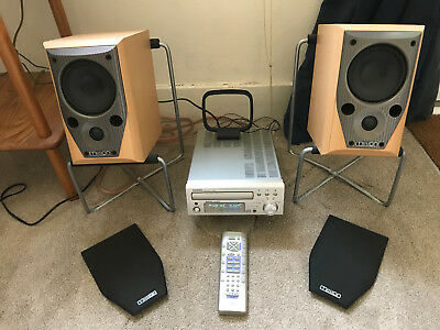 Denon UD-M30 CD Radio with 2 x Mission M70 Parcel Shelf Speakers and Stands
