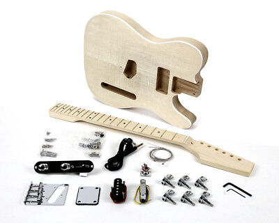 Pit Bull Guitars TLA-1F Ash Body Electric Guitar Kit (Flame Maple)