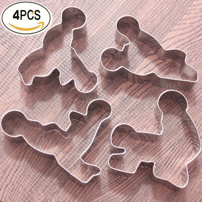 4pcs Stainless Steel Funny Cookie Fondant Cake Mold Biscuits Cutter Mould DIY