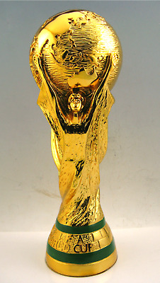 NEW 2018 FIFA Russia World Cup Trophy H 36cm W 1.4 With GIFT / brown  Box