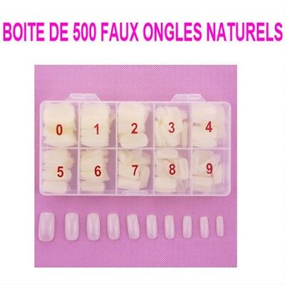 Boite 500 Capsules Tips Naturel Faux Ongle Gel Uv Vernis French Ong112