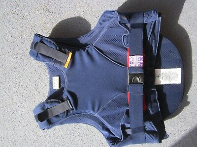 Airowear Reiver Elite Body Protector Equestrian Large Childs Navy 72-78cm Chest