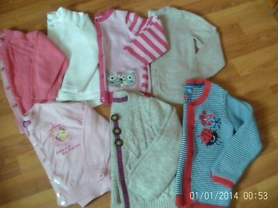 bundle of little girls cardigans age 2-3 years