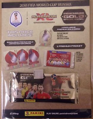 Fifa World Cup Russia 2018 Panini Adrenalyn XL Premium Gold Special Edition Pack