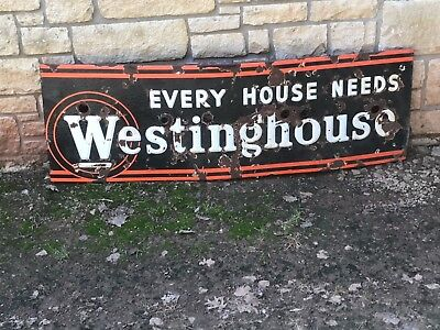 Antique Rare Westinghouse sign, Large, Every house needs Westinghouse sign.