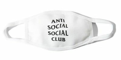 Anti Social Social Club ASSC Face Mask in HAND ASSC WHITE GENUINE 100% AUTHENTIC