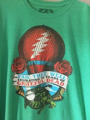 Grateful Dead Fare Thee Well Official Hot Air Balloon T Shirt Men's XXL 2XL