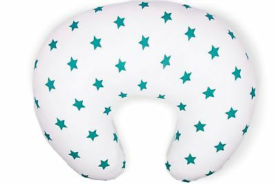 Spare Teal Star Print Cotton Cover for the Widgey Nursing Pillow