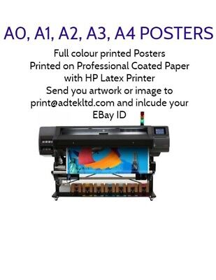 Your Photo On Paper Personalised Poster Print - A4 A3 A2 A1 A0