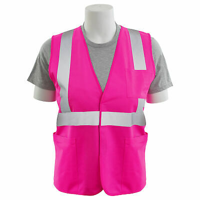 ERB Non-ANSI Reflective Safety Vest with Pockets, Pink
