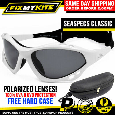 d88db38c53 Sea Specs White Polarized Fishing Glasses Seaspecs Kite Surf Boat Jetski  Kayak