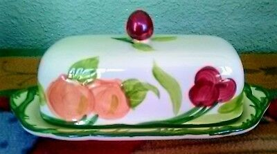 Franciscan Fresh Fruit Covered Butter Dish Excellent Condition 1/4 Lb.