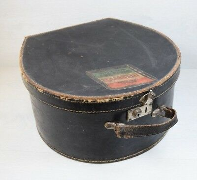 Vintage ORIENT Traveling Travel Hat Case Box Hotel Metropole Budapest 1958