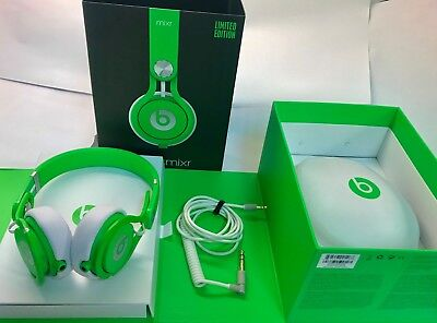 Beats By Dr Dre Mixr Headband Headphones Limited Edition Neon Green
