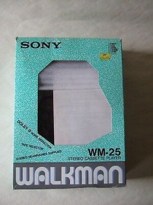 Sony Walkman Cassette Player Wm-25, Working, Boxed With Instructions