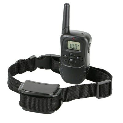 Waterproof Rechargeable Electric Remote Dog Shock Training Collar LCD 100LV 300M