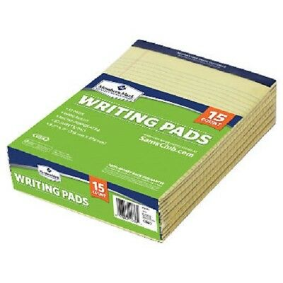 """Legal Pad 8-1/2"""" x 11-3/4"""" 50 yellow sheets per pad - Pack of 12 pads FREE SHIP"""