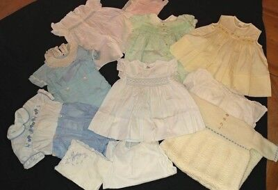Lot of Vintage Baby Clothes 11 Pieces- Baby Girl, 6 months - 1 years Boy & Girl