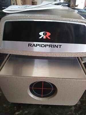Rapidprint-Vintage-Time Stamping Machine-Works Great-Preowned In Good Condition