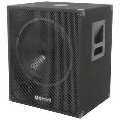 "QTX Sound QT15SA 15"" Active Powered 600W PA DJ Subwoofer Bass Sub SINGLE"