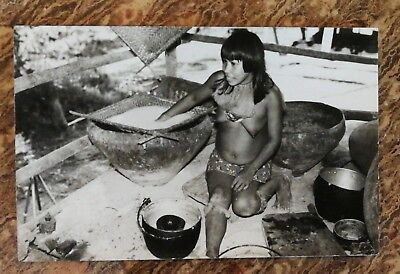 Vintage Original Wong Amazon Tribe Yagua Photo Postcard Peruvian Indians Peru..'