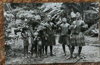 Vintage Original Wong Amazon Tribe Yagua Photo Postcard Peruvian Indians Peru..: